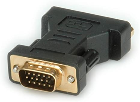 Roline Adapter Vga Stecker Auf Dvi I Buchse Computer Zubehör