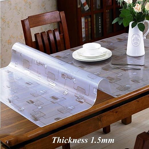 JYAcloth PVC Impermeable Protector De Mesa, Resistente Al Calor ...