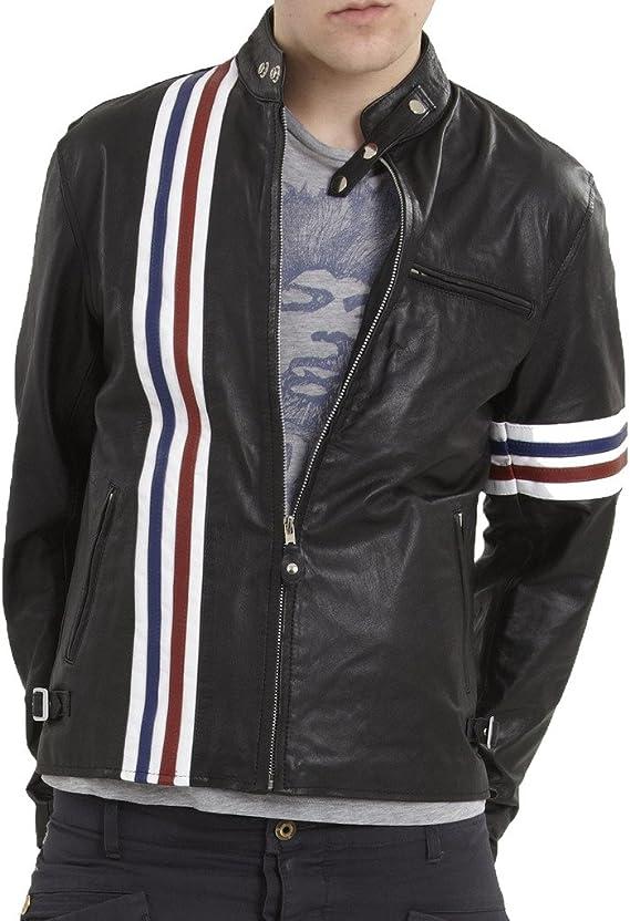 Mens Motorcycle Cowhide Leather Biker Party Jacket LFC262