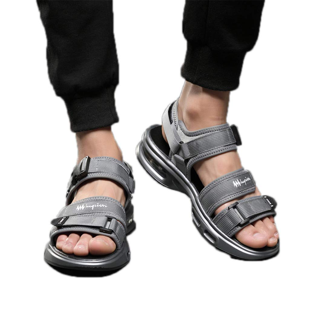 Air Cushion Sandals Sports Summer Comfortable Beach Shoes Sneakers Quality Outdoor Casual Sandalias Male Gray 8 by Dishfeilt