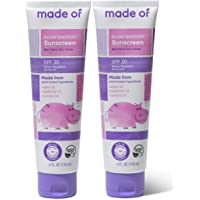 Baby Sunscreen Organic SPF 30 Broad Spectrum by MADE OF - EWG Sunscreen Rated 1 & NSF Organic - Made in USA - 4oz…
