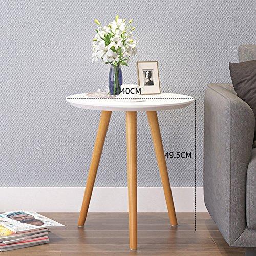 LD Products Madera Impermeable Mesas auxiliares, Redondo Mesas de Centro Nordic Moderno Mesa de sofá Mesa de teléfono...