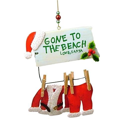 Cape Shore Santa Gone to The Beach Christmas Ornament - Unique Ornaments Christmas: Amazon.com