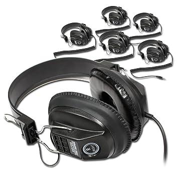 f7d48cde9be 6x Soundlab Black Hi-Fi Stereo DJ Headphones: Amazon.co.uk: Electronics