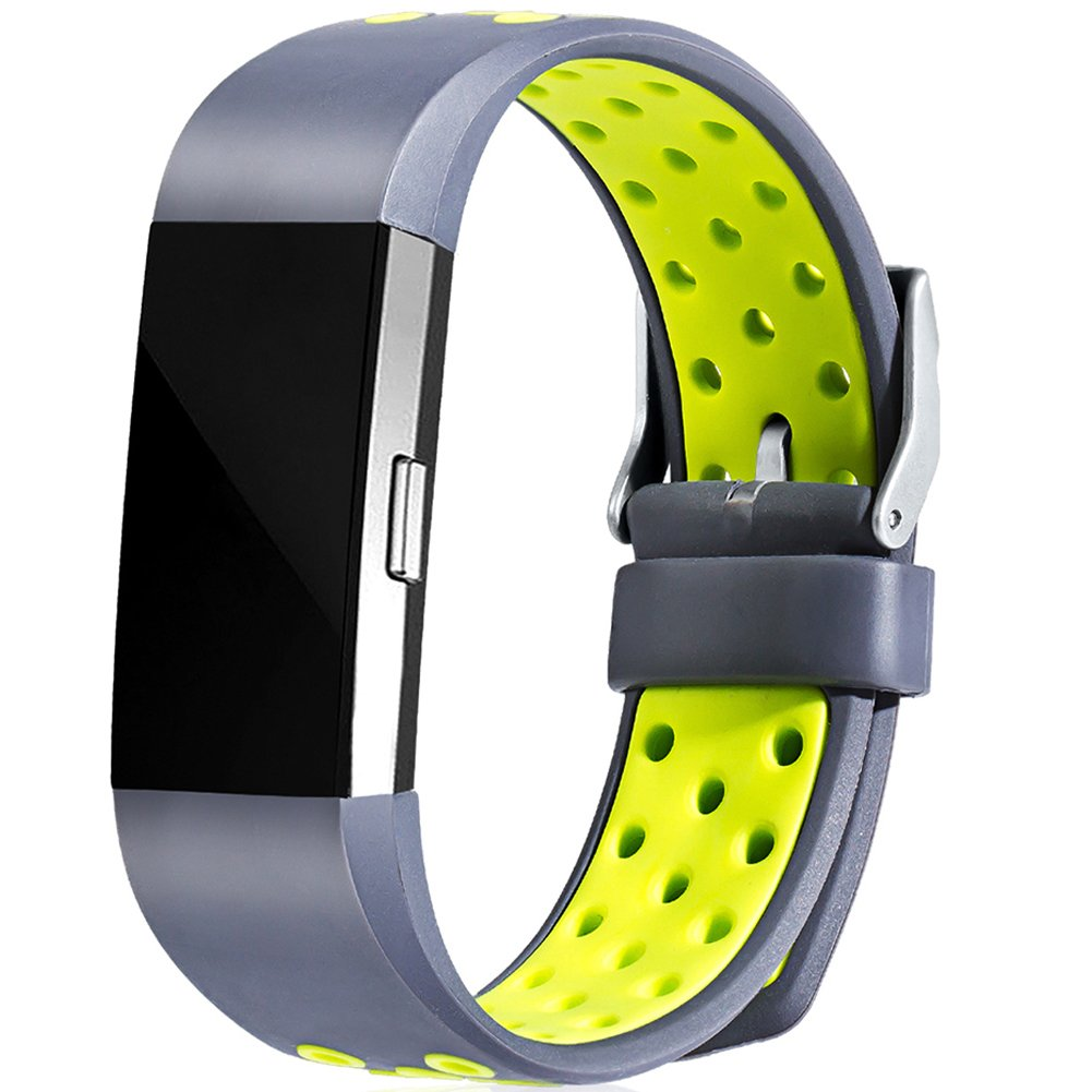 Geak Fitbit Charge 2バンド、Special Edition交換用バンドfor Fitbit charge2 Large Small 12異なる色 B075N738LL Small #1 Gray / Yellow #1 Gray / Yellow Small