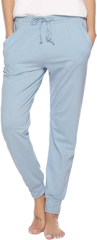 Aibrou Pantalones de Pijama Mujer Invierno Pantalón Largo Algodón de a Rayas Otoño (Azul-2, x-Large): Amazon.es: Ropa y accesorios