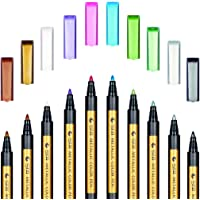 Metallic Markers Pens - SAYEEC Metallic Color Painting Pens Art Marker Set of 10 Assorted Colors for Gift Card Making…