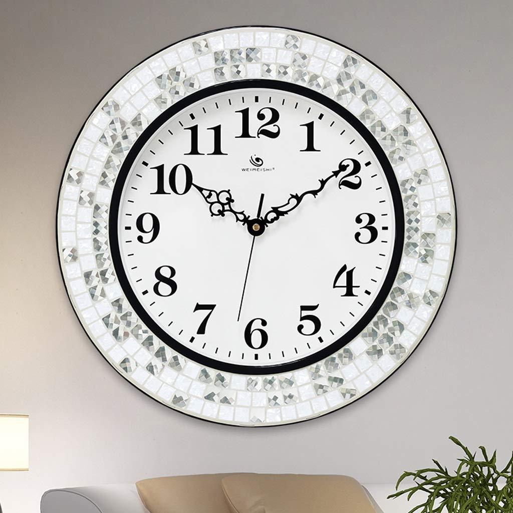 時計クリエイティブシンプルな時計ファッションミュートクロックモダンなリビングルームの壁時計 SHWSM (Color : A) B07TK7SVYN A