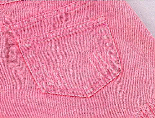Et Hot Taille Short Basique Trous Short Ample Haute Rose COMVIP Plage Jean Femme gxWEq6gv