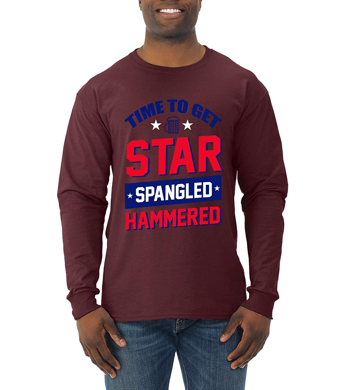 Time To Get Star Spangled Hammered Usa Beer 4th Of July S Drinking Tshirt