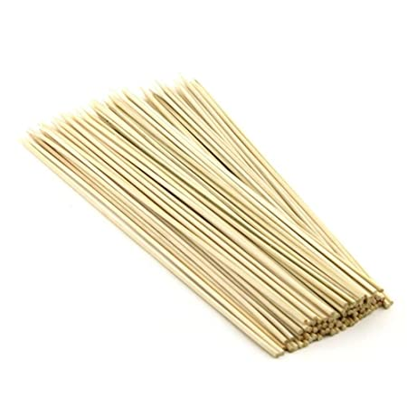 WAY BEYOND BBQ , Kebab , Bamboo Wooden Skewers (8 inches/2.3 mm Thickness) - Pack of 100