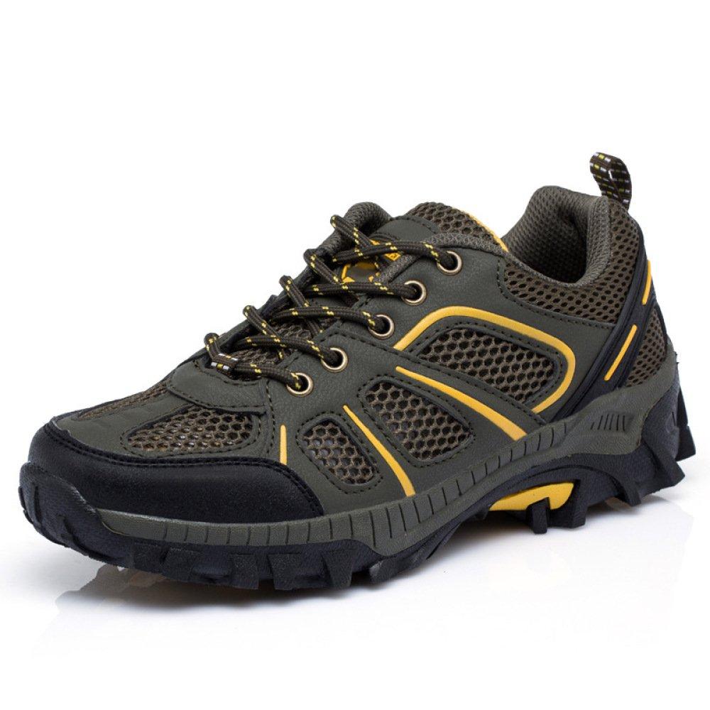 DSFGHE Laufende Schuhe Der Männer Beiläufige Masche Atmungsaktive Sportschuhe Im Freien Rutschfeste Wanderschuhe