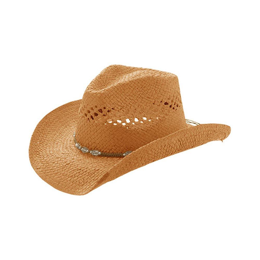 Enimay Men's Womens's Western Outback Straw Canvas Cowboy Hat COWBOY-1-MILANI-8158