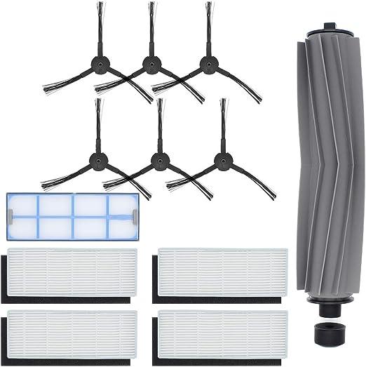 DingGreat Accesorios para ILIFE A8 A6 X620 X623 Robot Aspirador Repuestos Paquete de 1 Cepillo Principal, 4 filtros ...