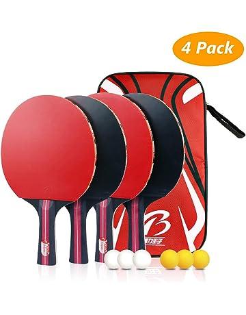 the latest d2ee5 8293c Tencoz Raquette de Ping Pong Set, ping Pong Portable Raquette de Tennis de  Table pour