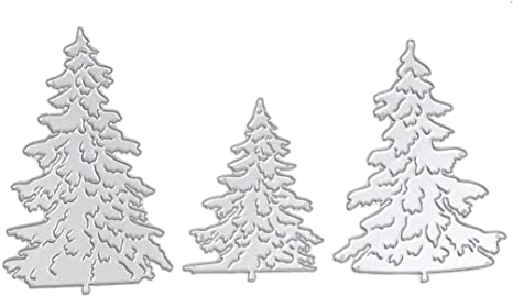 DIY Crafts Decor Cutting Dies Embossing Stencil Christmas Tree Scrapbooking