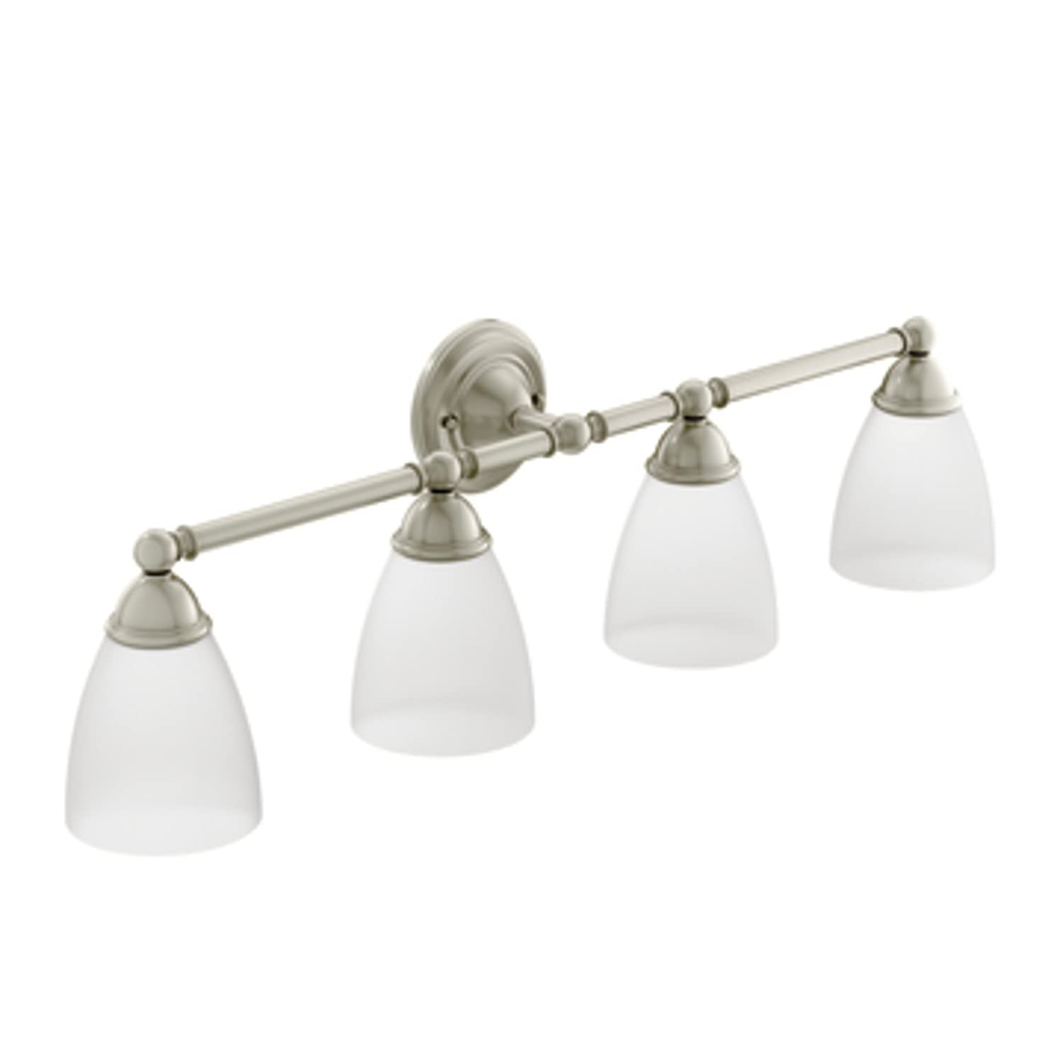 Moen yb2264bn brantford bath lighting brushed nickel bathroom moen yb2264bn brantford bath lighting brushed nickel bathroom hardware amazon aloadofball Image collections