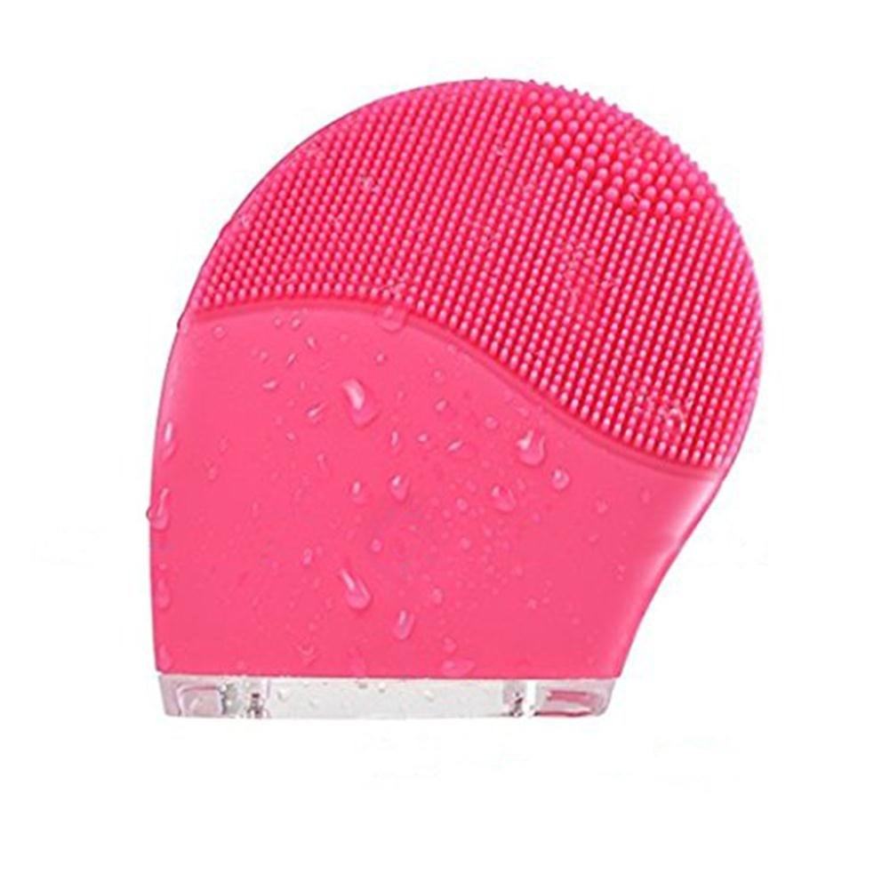 Makeup Facial Cleansing Brush Sonic Silicone Cleanser Vibrating Exfoliator Face Massager Rechargeable Waterproof for Skin Care, Polish Scrub, Anti-Aging, Acid, Peels, Reduce Acne(Pink) Joint Victory