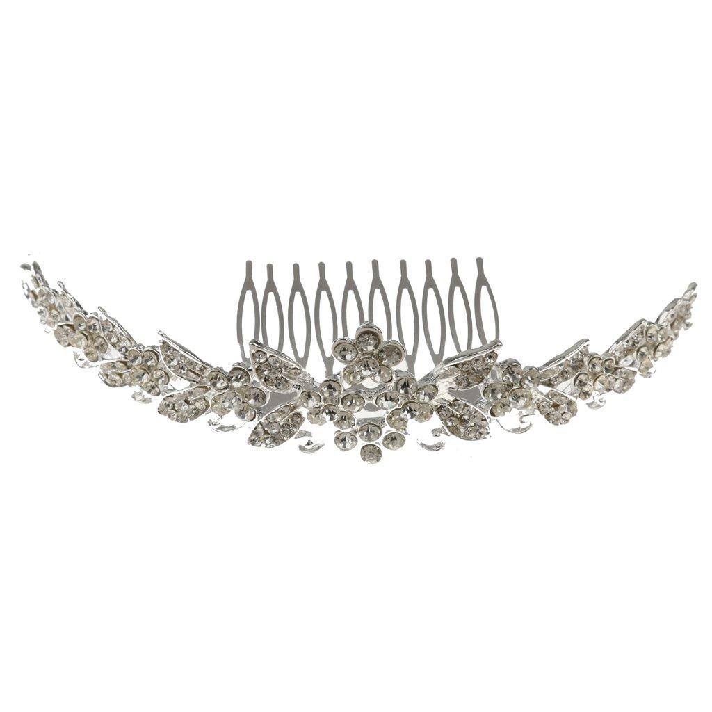Elegant Rhinestone Wedding Bride Tiara Comb Headband Prom Hair Accessory Generic STK0156007573