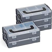Bosch Sortimo L-Boxx Mini antraciet 5 stuks in set/deksel transparant - innovatief transportsysteem
