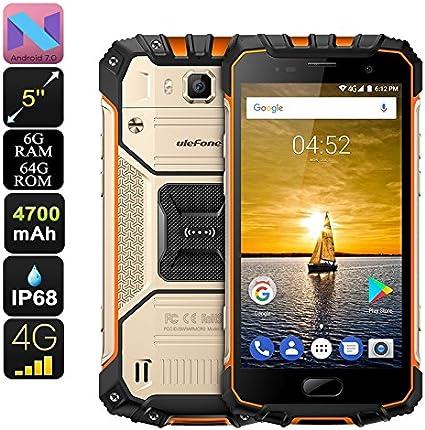 Ulefone Armor 2 Smartphone Helio P25 RAM 6GB Dual-IMEI 4G Android 7.0 IP68 Gold: Amazon.es: Electrónica
