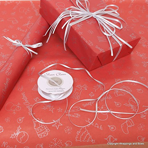 Christmas Natural Kraft Patterned Brown Gift Wrapping Paper Purple /& Silver Snowflakes rolled 5 metres