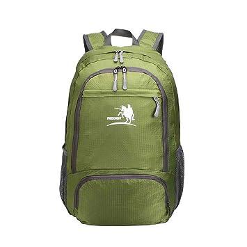 Fafada 25L Mochila Ultra Ligera Plegable Impermeable para Viaje Deporte Senderismo Verde: Amazon.es: Deportes y aire libre