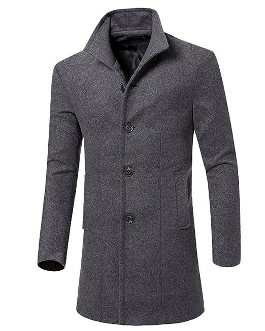 cappotto lana grigio uomo