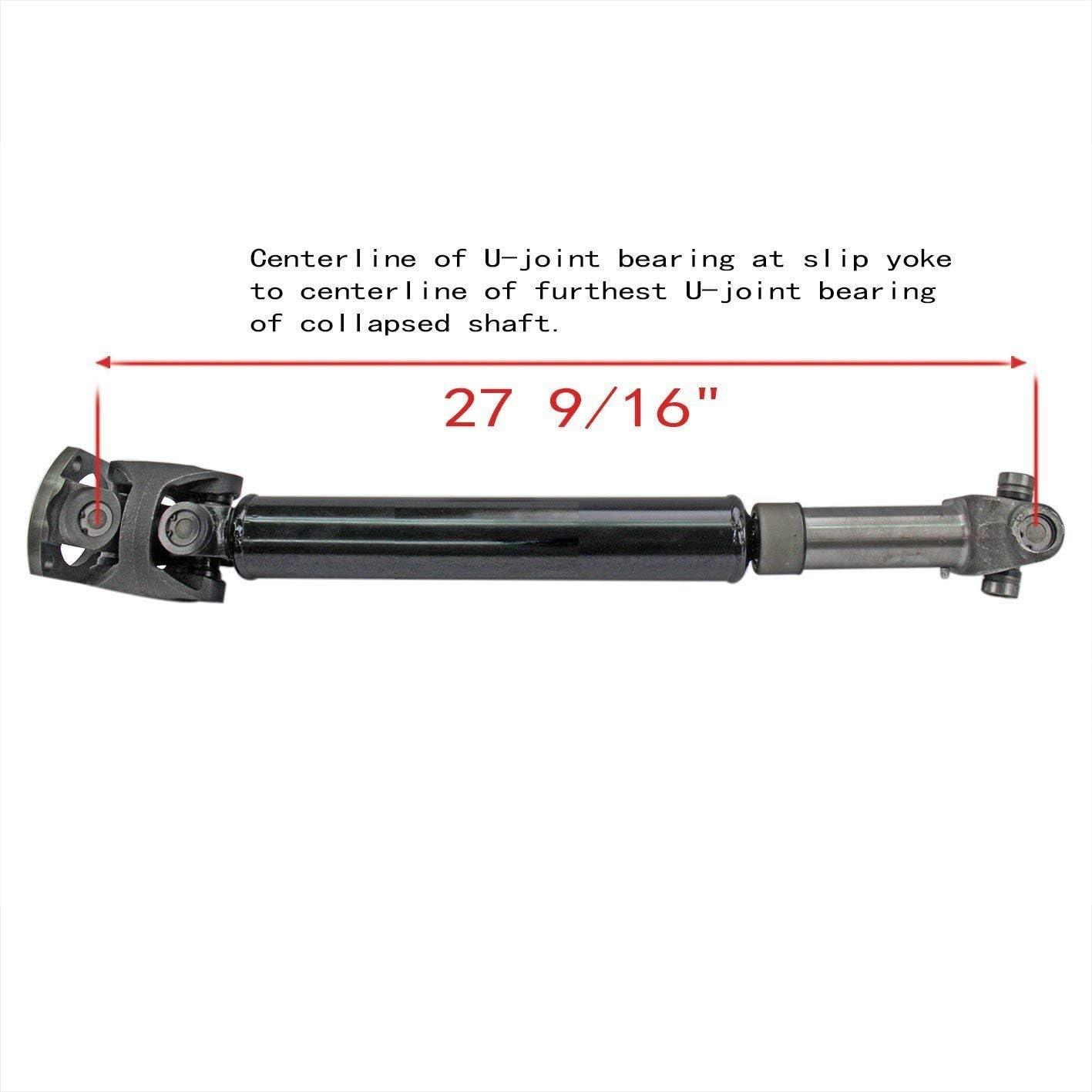 27 9//16 Length Bodeman Front Drive Shaft Prop Shaft Assembly for 1999 Dodge Ram 2500 3500-5.9L//8.0L