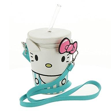 Amazon.com  Loungefly Hello Kitty Milkshake Faux Leather Crossbody ... b58d22c20ade2