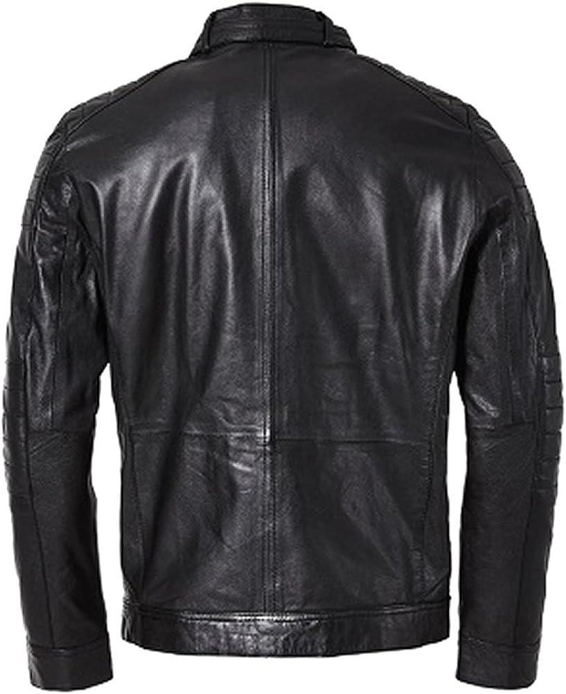 Classyak Mens Fashion Real Leather Stylish Slimfit Jacket