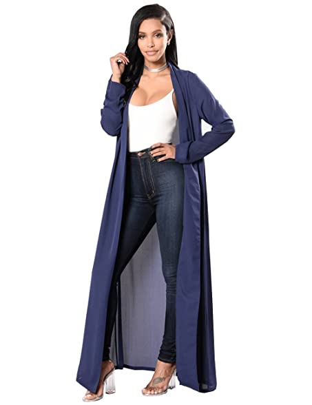 Eorish Women's Casual Long Sleeve Cover Up Lightweight Chiffon ...