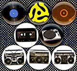 """Hip Hop DJ 8 NEW 1"""" buttons pins badges turntable"""
