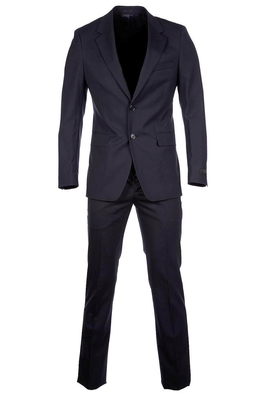 f78d5b4406d7 Prada men s suit original tela stretch wool all seasons blu UK size 56 (UK  46) UAA385 D33 F0008  Amazon.co.uk  Clothing