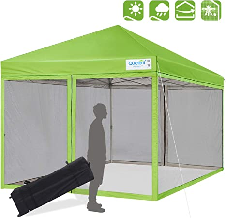 Amazon Com Quictent 8x8 Ft Easy Pop Up Canopy With Netting