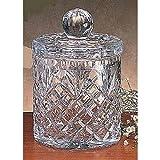 8'''' High, 5.5'''' Diameter Oxford Crystal Biscuit Jar