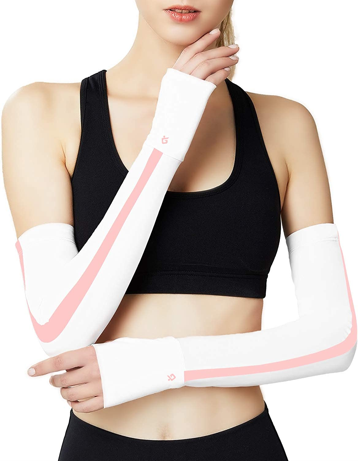 Cooling Arm Sleeves for Women uv Arm Sleeves for Cycling running Sports Golf