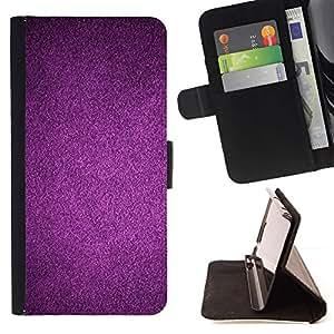 Purple Reflective Dark Wallpaper - Modelo colorido cuero de la carpeta del tirón del caso cubierta piel Holster Funda protecció Para Apple iPhone 5 / iPhone 5S