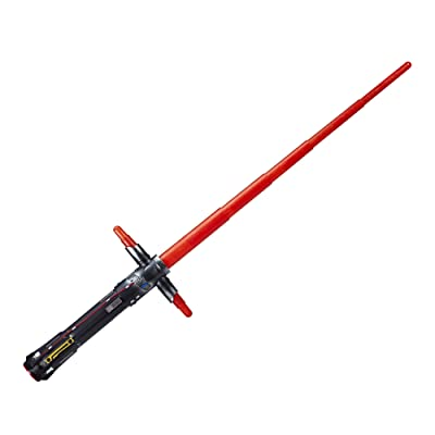 Star Wars Kylo Ren Force Action Electronic Lightsaber: Toys & Games