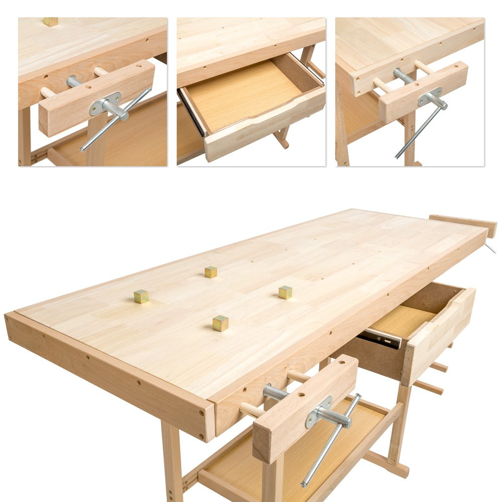 137/x 50/x 87/cm. Product code:401451 /Available in Various Sizes/-/ TecTake Woodwork Workbench