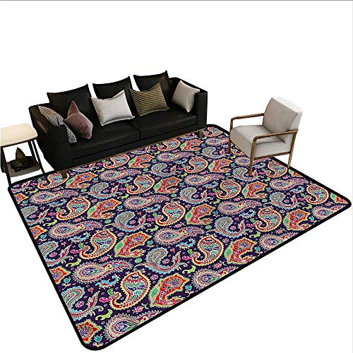 - Paisley,Bathroom Rug Kitchen Carpet 60