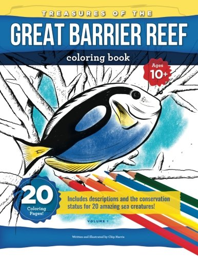 Download Treasures Of The Great Barrier Reef: Coloring book for kids(10+), teens and adults with beautifully drawn scenes of the reef and its treasures pdf epub