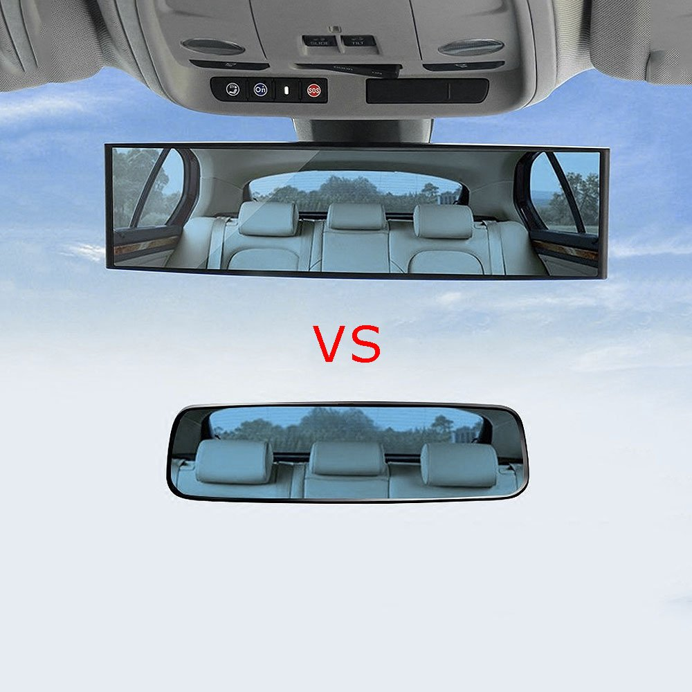 Pinzhi 300mm Large Car Vehicle Inside Rear View Panoramic Anti Daze Clip On Durve Mirror