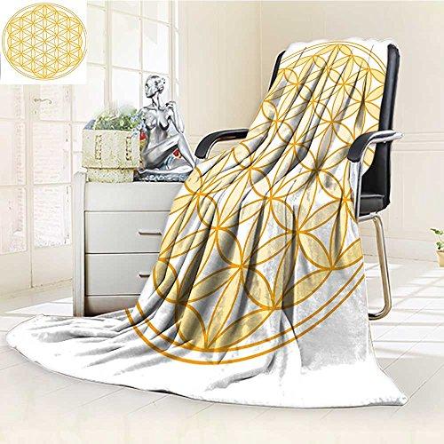 Manta para cama o sofá con forma de semilla de ceja con ángulo piramidal, diseño de sección de divina generación, color...