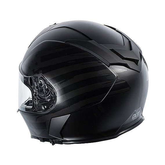 Amazon.com: TORC T14 Mako Flag Full Face Helmet (Flat Black, Small): Automotive