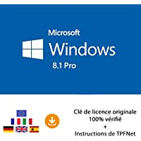 Windows 8.1 Pro 32 Bits & 64 Bits - Clé de Licence Originale par Postale et E-Mail + Instructions de TPFNet® - Livraison Maximum 60min