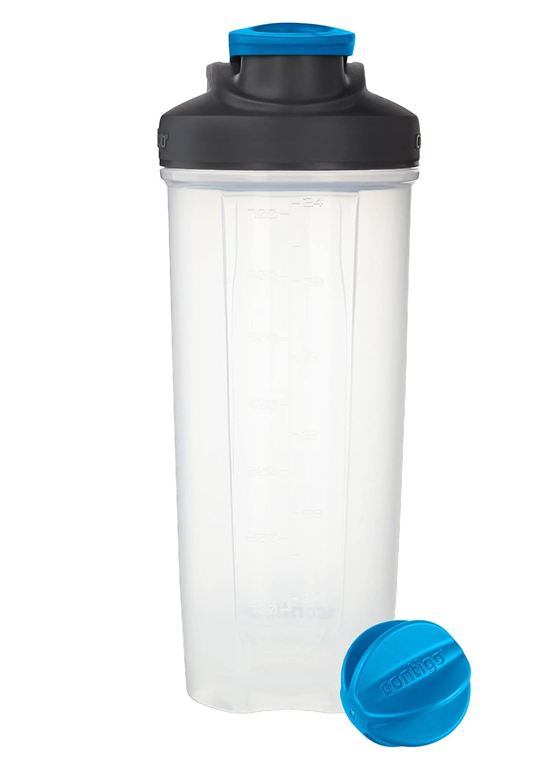 Contigo Shake & Go Fit Snap Lid Shaker Bottle, 28 oz, Carolina Blue