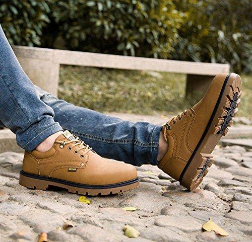 Flach Wanderhalbschuhe Retro Herren Komfort Minetom Wasserdicht Arbeiten Trekking Sicherheitsschuhe Schuhe Braun Lederschuhe Schnürhalbschuhe xqIPUxAwO