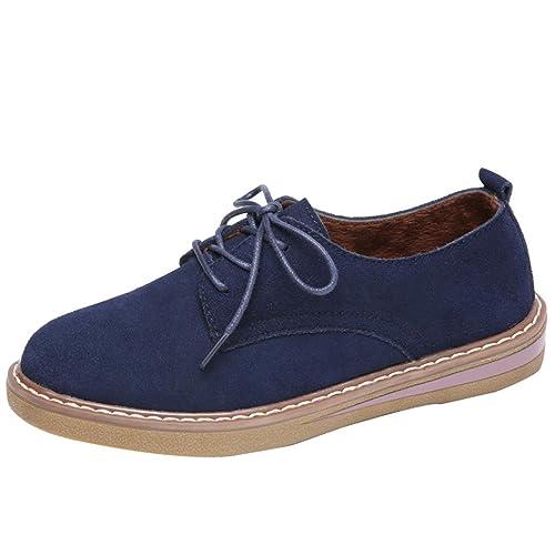 Zapatos de Cordones Mocasines para Mujer, QinMM Zapatillas de Otoño Merceditas: Amazon.es: Zapatos y complementos