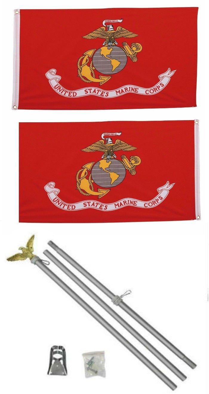 宅配 2 3 x 3 ' 2 ' x3 ' EGA USMC海兵隊海兵隊両面2ply国旗アルミニウムポールキット ' B01N4I5O9E, mto:7c99e118 --- digitalmantraacademy.com